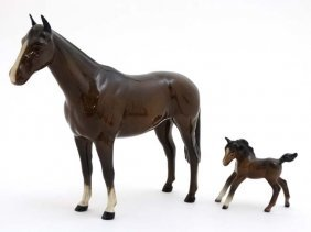 A Beswick Model Formed As A Bay Horse '' Imperial '',