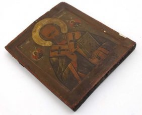 Russian Icon : An 18 / 19th C Painted Icon Of St.