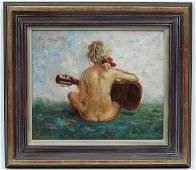 Dennis Gilbert (1922-), NEAC, Oil on canvas laid on