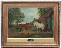 John Frederick Herring Jr 1820  1907  Oil on