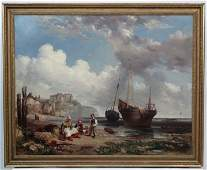 XIX Continental / French School, Oil on canvas, Breton