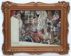 Frank Lamb , British (xx), Watercolour, ''the Art Of