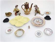 A collection of assorted ceramics to include two