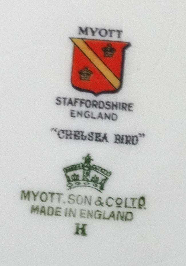 A Myott , Son & Co Ltd, Staffordshire , England '' - 2