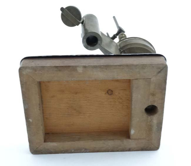 19thC scientific apparatus. A brass burner  with four - 2