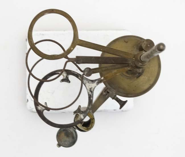 19thC scientific apparatus. A brass burner  with four - 4