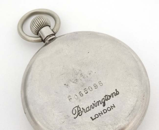 Military Pocket Watch : a Top Wind nickel cased MOD - 4