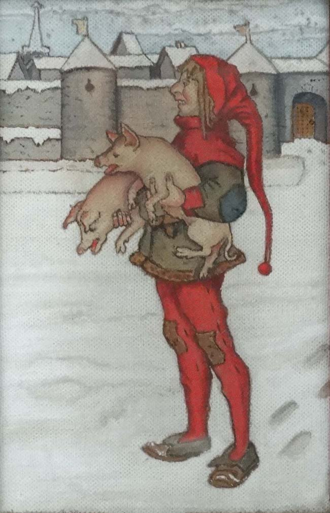 Arts and Crafts c 1900, Oil on unprepared canvas, - 3