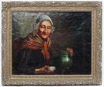 Gae Dyson  XIX Oil on canvas Portrait of a woman