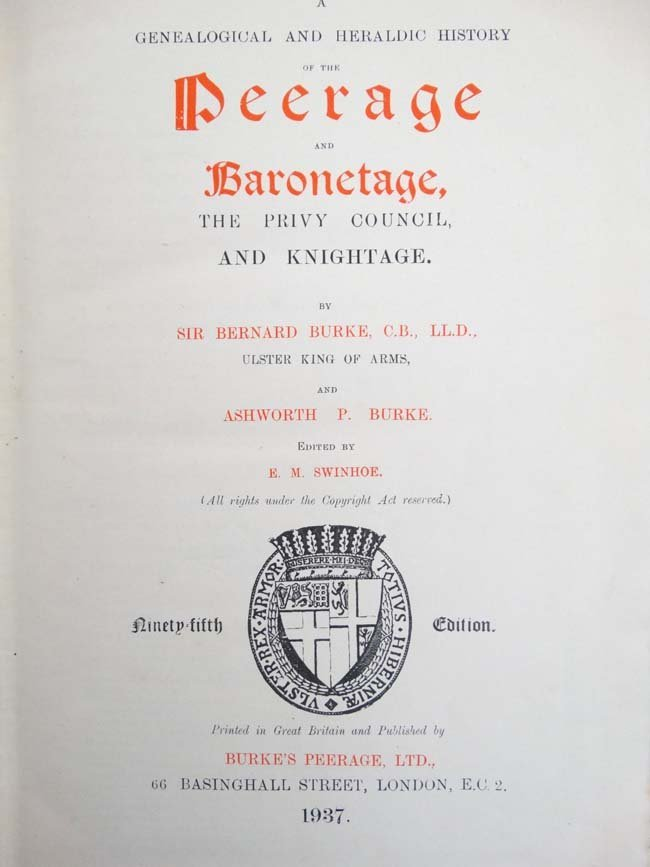Book : '' A Genealogical and Heraldic History of the - 4