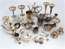 A quantity of assorted silver plated wares to include