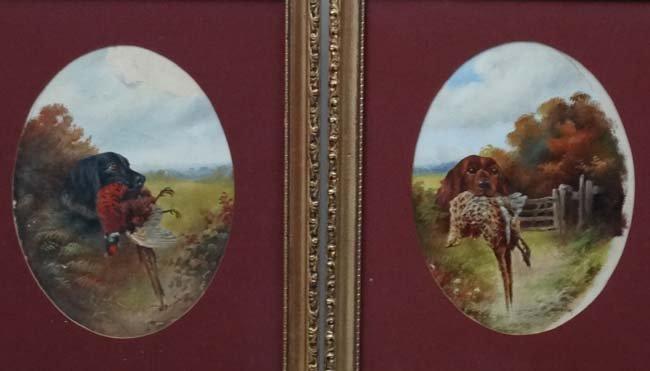 Gun Dogs :  John Hardwicke Lewis (1840-1927), Oil on - 3