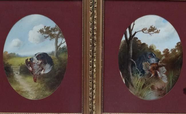 Gun Dogs :  John Hardwicke Lewis (1840-1927), Oil on - 4