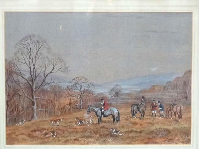 Hunting : Vixen XX Watercolour and gouache Calling the - 3