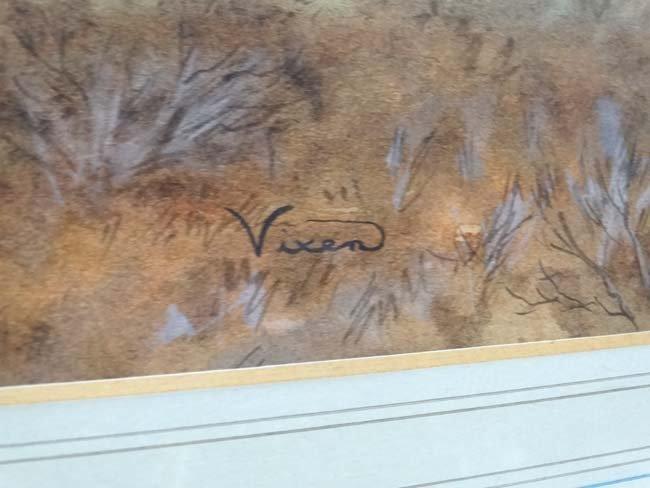 Hunting : Vixen XX Watercolour and gouache Calling the - 4