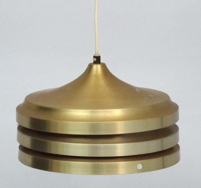Vintage Retro : A Danish 3 tier pendant lamp, with