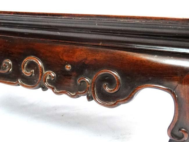 A late 19th Century Chinese hardwood low Table with - 6