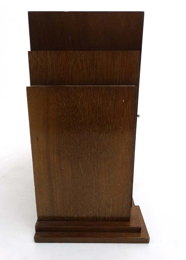 Art Deco mantle Clock : a musical mahogany cased, - 8