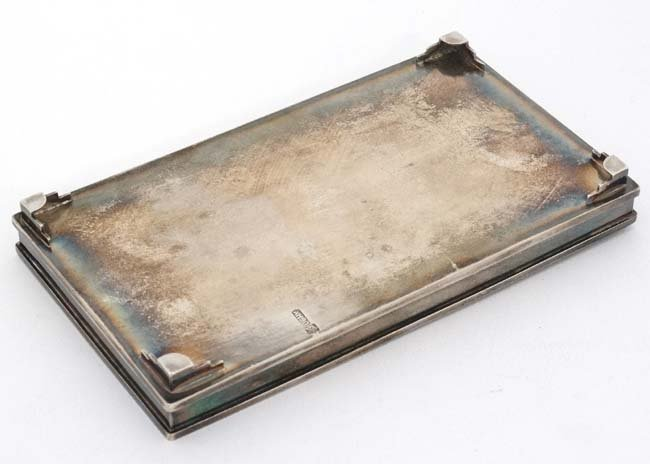 Chinese Export Silver : A small dressing table tray / - 4