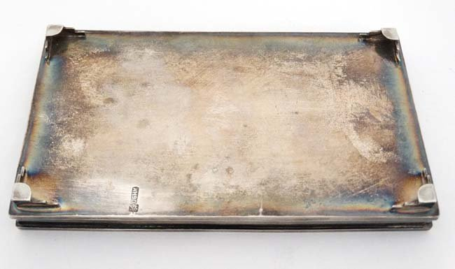 Chinese Export Silver : A small dressing table tray / - 6