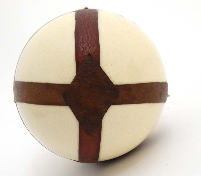A c.1900  Leather mounted ostrich egg typically from - 2