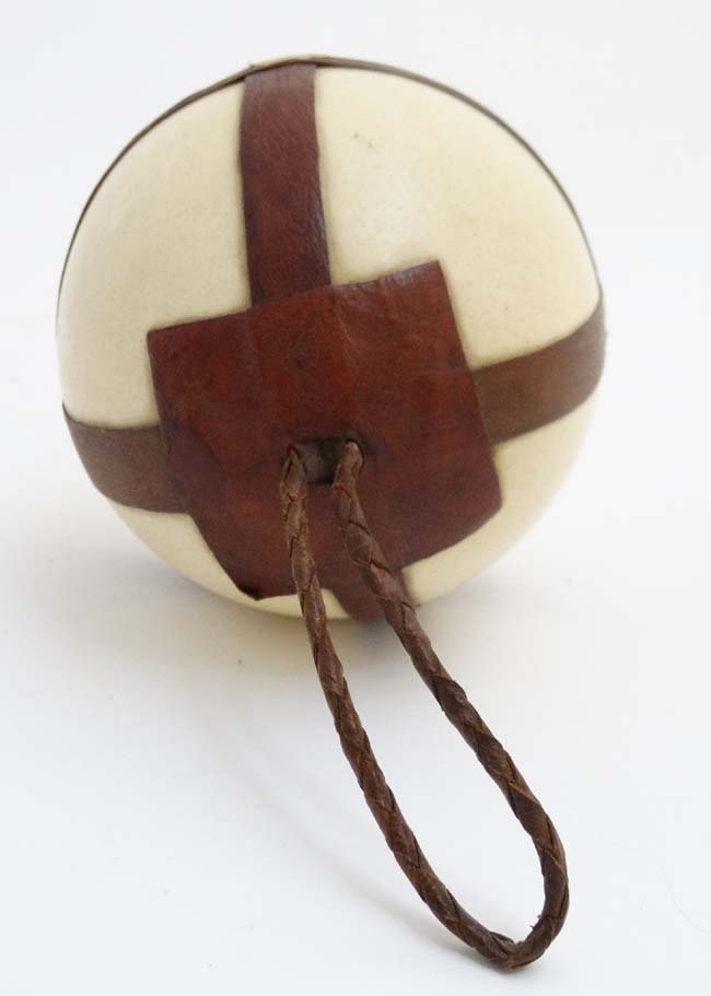 A c.1900  Leather mounted ostrich egg typically from - 3