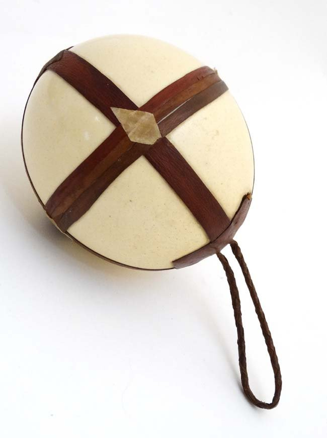 A c.1900  Leather mounted ostrich egg typically from - 4