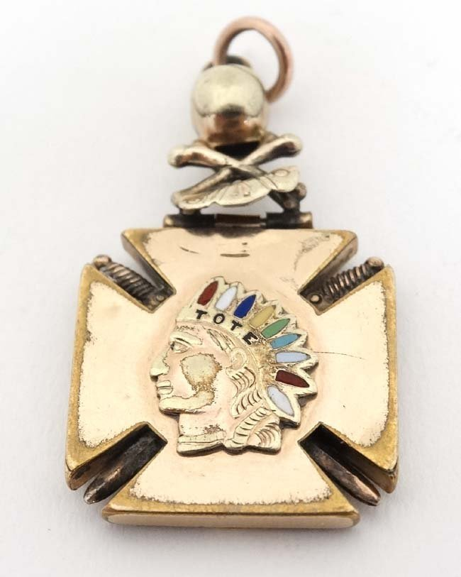 American Fraternity Interest - Order of Redmen ; A gilt - 3