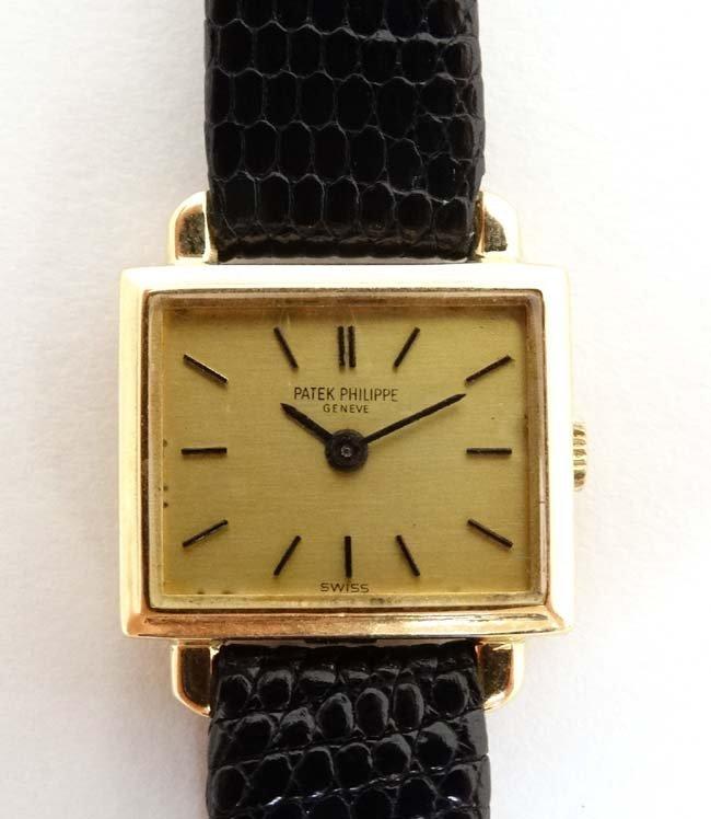 Wristwatch : Patek Phillipe , a 18ct (.750 ) gold cased