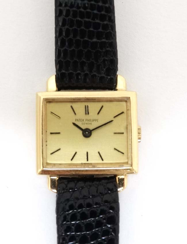 Wristwatch : Patek Phillipe , a 18ct (.750 ) gold cased - 7