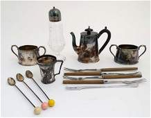 A quantity of assorted items to include a silver plated