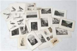 Collection of 18 th and 19 th century engravings : To