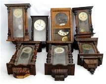 Clock Restoration  a collection of 7 assorted wall