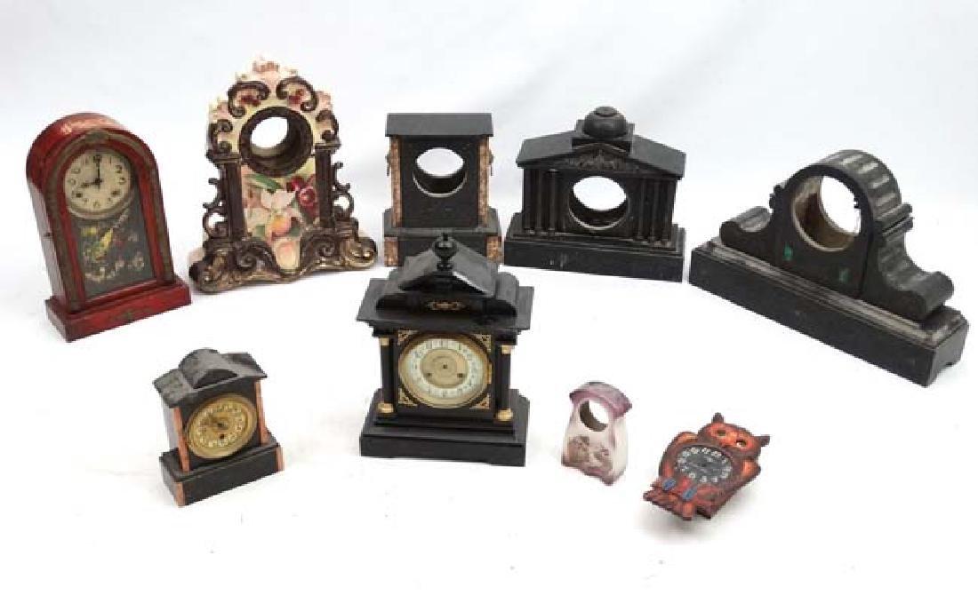 Clock Restoration :   A quantity of marble clock cases