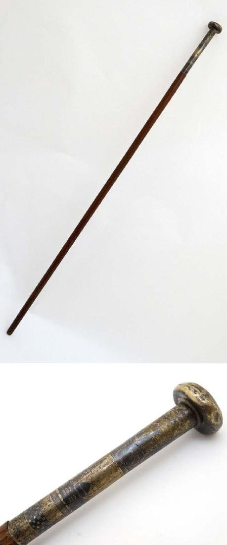 Walking Stick / Cane :  A Gentleman's cane, with niello