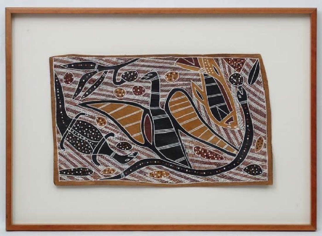 *Australian Aboriginal Art, Dot Bark painting ,
