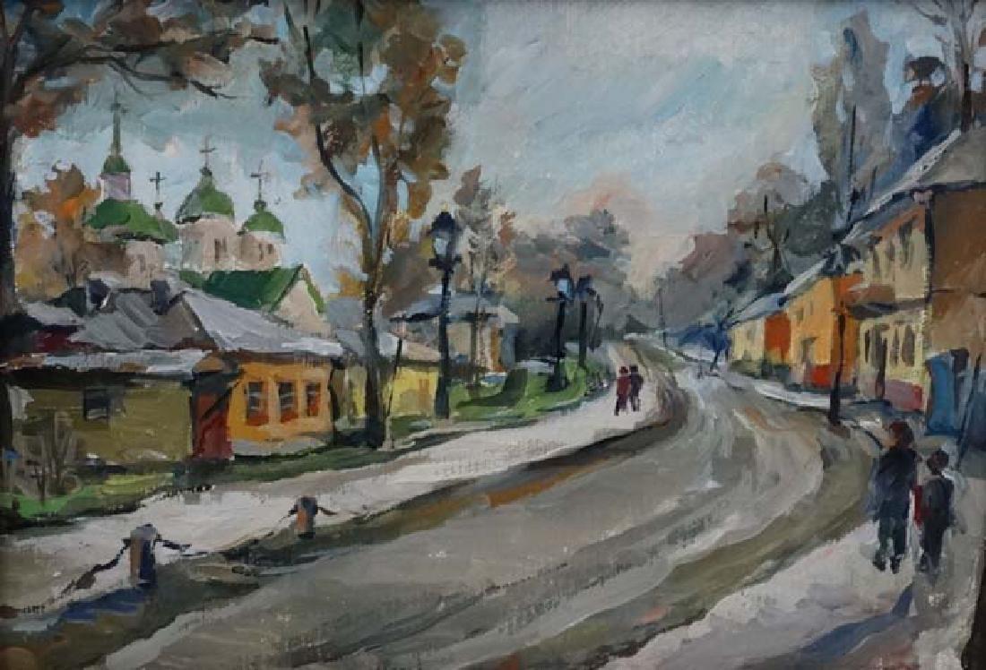 L Romanenko XX East European, Oil on canvas c.1979, An - 3