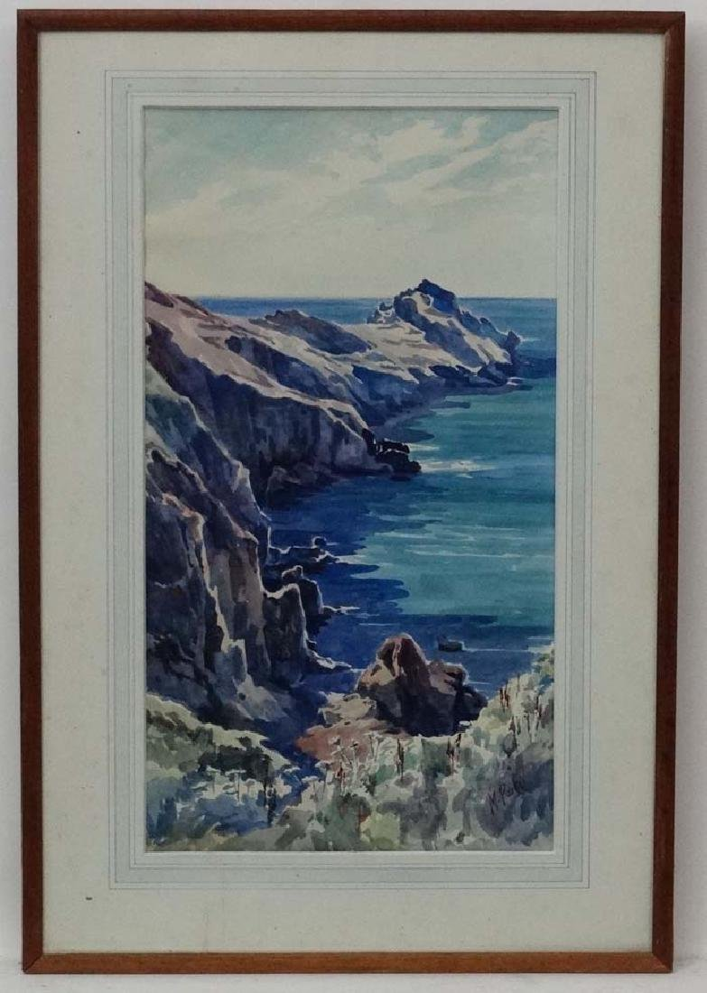 M Parker 1939 Cornish School, Watercolour, ' Gurnard