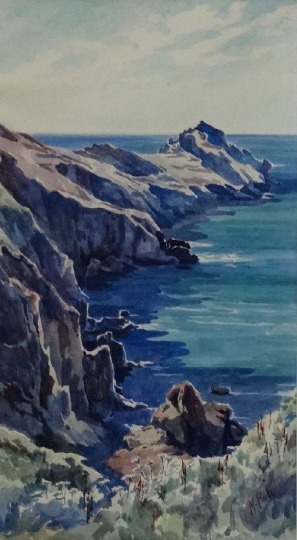 M Parker 1939 Cornish School, Watercolour, ' Gurnard - 3