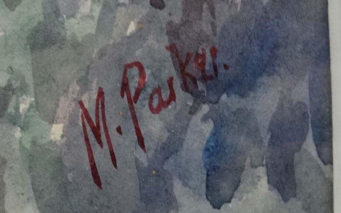 M Parker 1939 Cornish School, Watercolour, ' Gurnard - 4