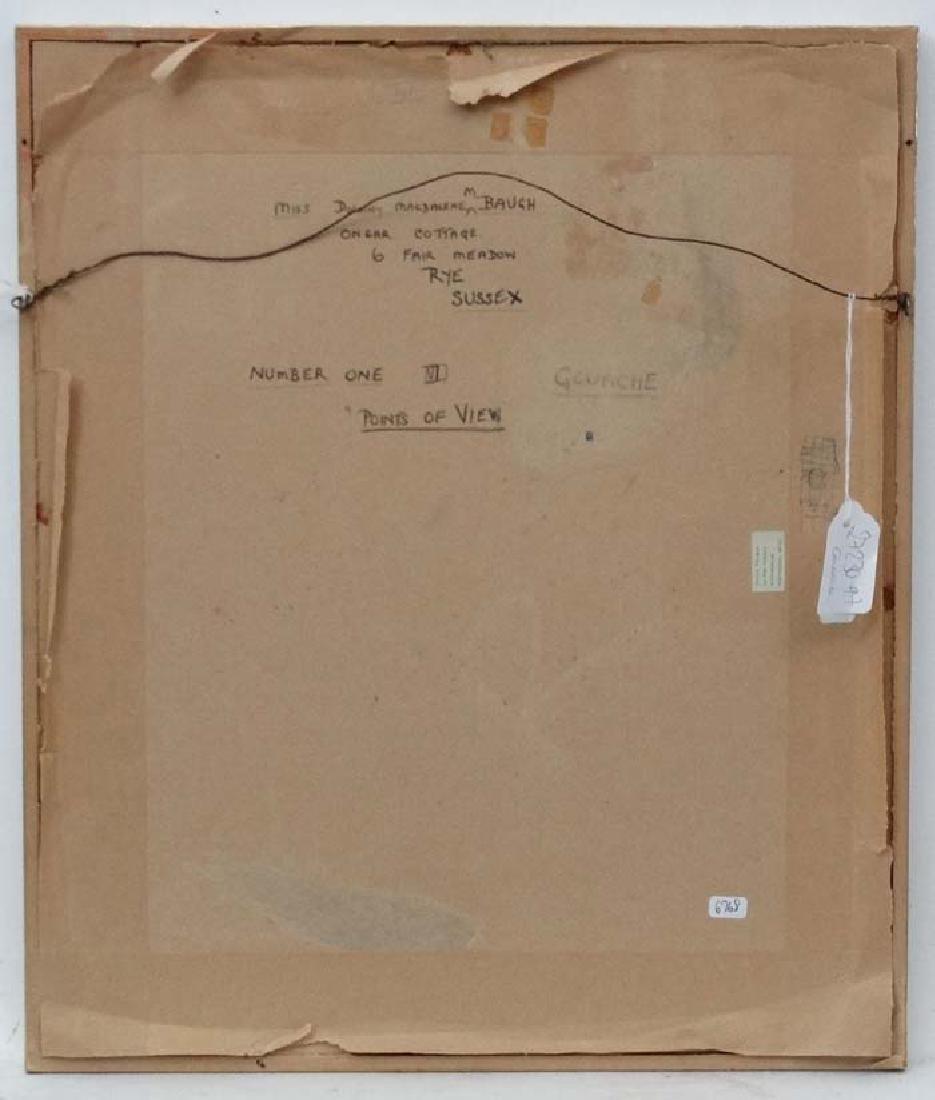 Dorothy M M Baugh XX Vorticism, Gouache, '' Points of - 2