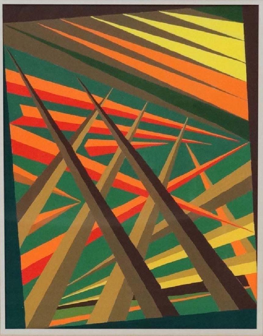 Dorothy M M Baugh XX Vorticism, Gouache, '' Points of - 3