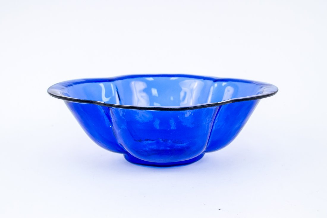 Blue Color Peking Glass Bowl