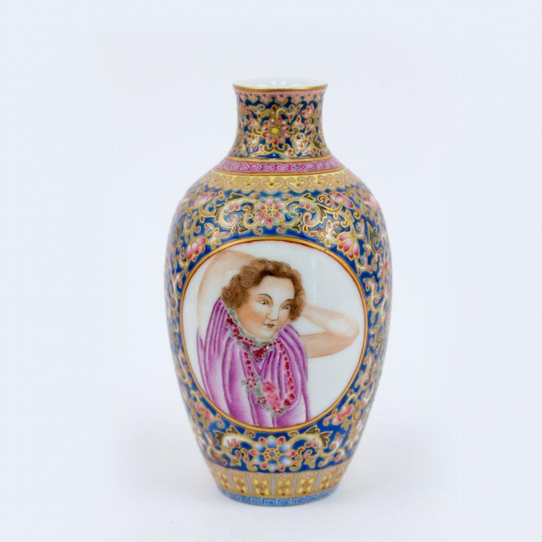Enamel Glazed Qing Dynasty Export Ware, Double Open Fac