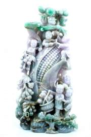 An Exquisite Large Size Carving Of Burma Jade From A We