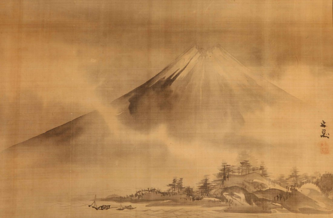 Painting of Mount Fuji by Tani Buncho