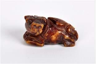 Jade Carving of Qilin , 20th Century