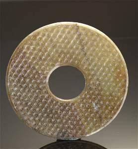 Grayish-Green Jade Discs, BI, warring States Period