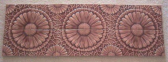 13: American Encaustic tile set ca 1890