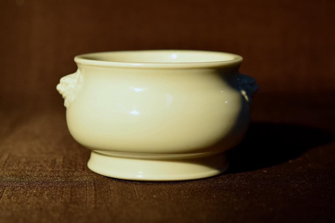 Chinese Dehua Blanc de Chine Porcelain Censer 18th cen